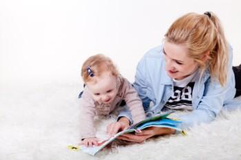 babysitter and child